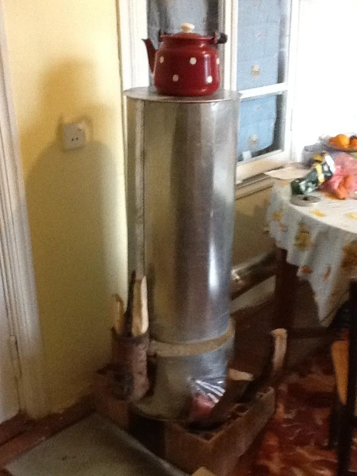 Portable rocket stove burning well tamiz solutions for Portable rocket stove heater